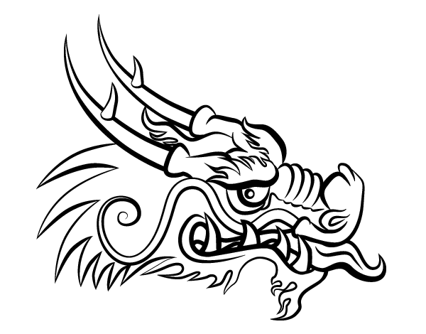 Red Dragon Head Coloring Page Coloringcrew Com