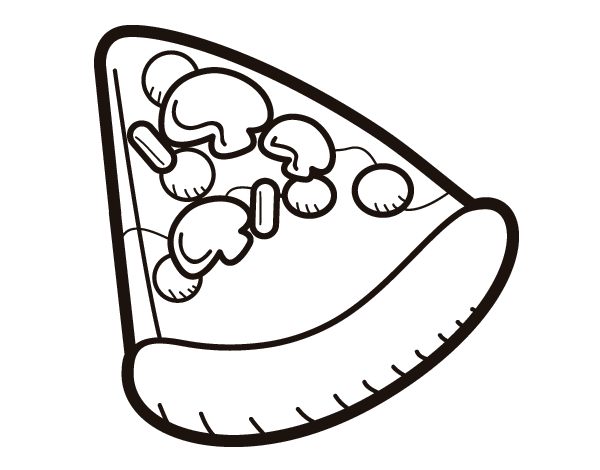 Slice Of Pizza Coloring Page Coloringcrew Com
