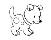 Small puppy coloring page