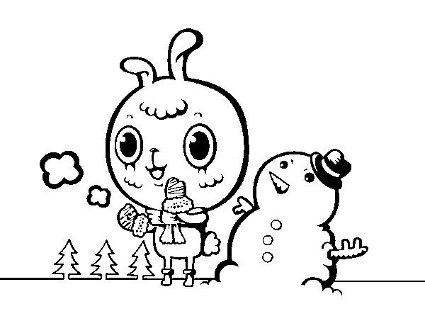 Snowy Day coloring page - Coloringcrew.com