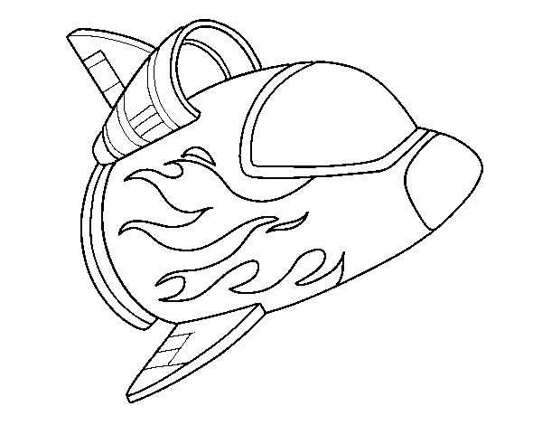 Spacecraft coloring page