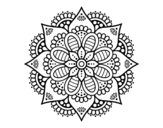Spring flower mandala coloring page