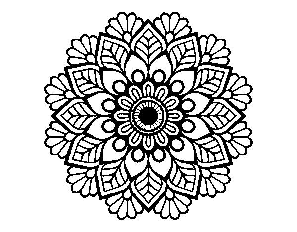 Spring Mandala Coloring Page Coloringcrew Com
