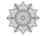 Star flower mandala coloring page