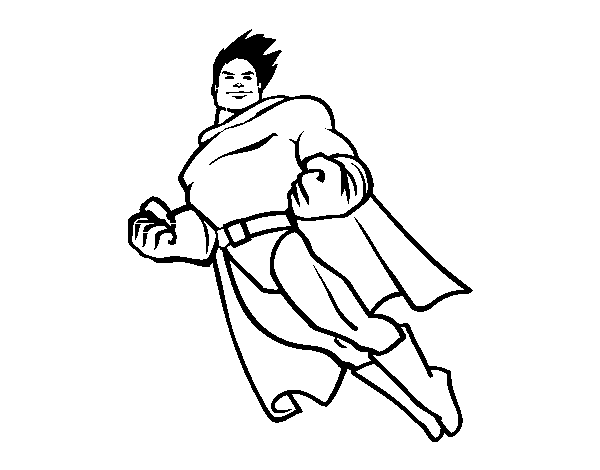 Superman flying coloring page - Coloringcrew.com