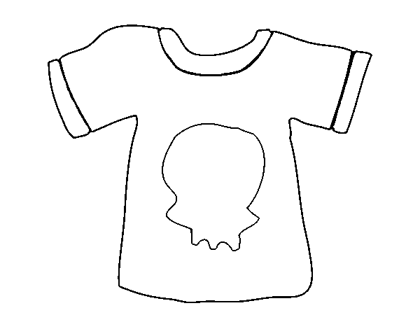 T-shirt Emo coloring page