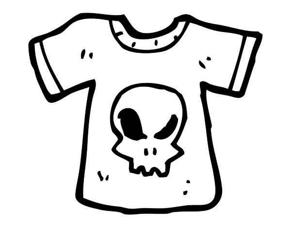 T Shirt Emo Coloring Page Coloringcrew Com