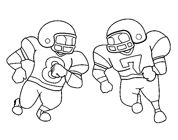 Tackle coloring page