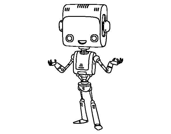 The intelligent robot coloring page