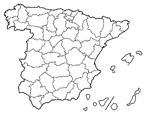 Silueta Mapa De España Png.The Provinces Of Spain Coloring Page Coloringcrew Com