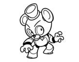 Toy Freddy from Five Nights at Freddy's coloring page