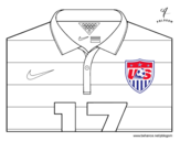 United States World Cup 2014 t-shirt coloring page