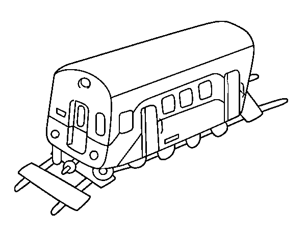 Wagon coloring page