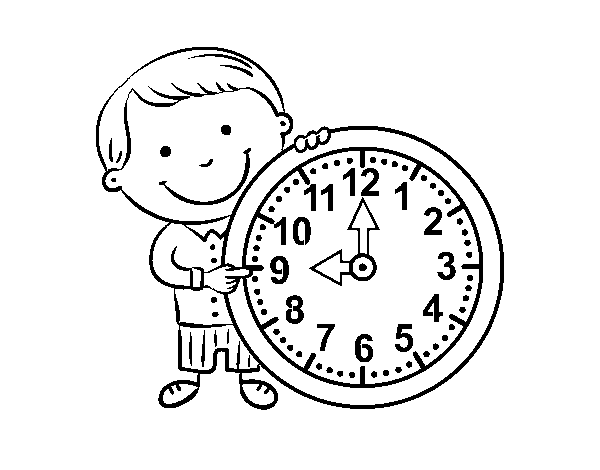 What time is it coloring page