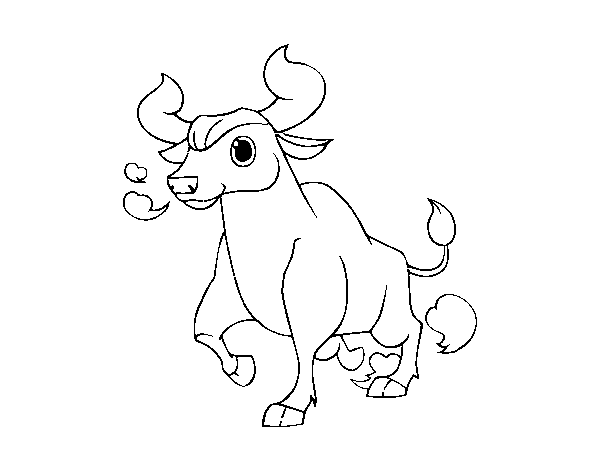 Young cow coloring page