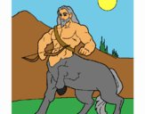 Coloring page Centaur with bow painted byBell