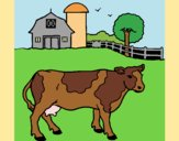 Coloring page Cow out to pasture painted byAnia