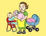 Coloring page Nanny painted byLornaAnia