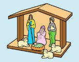 Coloring page Christmas nativity painted byLornaAnia