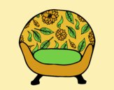 Coloring page Vintage armchair painted byLornaAnia