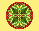 Coloring page Planetary mandala painted byLornaAnia