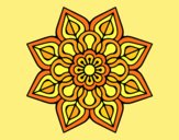 Coloring page Simple flower mandala painted byANIA2