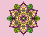 Coloring page Star flower mandala painted byAnitaR