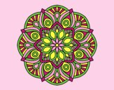 Coloring page Mandala alhambra painted byLornaAnia