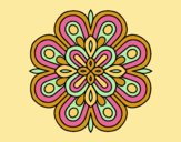 Coloring page Mandala visual art painted byLornaAnia