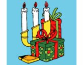 Candelabra and presents