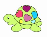 Turtle with hearts